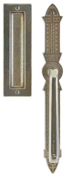 "Briggs Lift & Slide Door Set - 2"" x 15"" Silicon Bronze Rust"