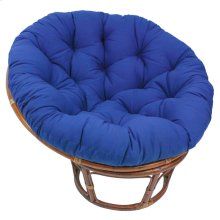 Bali 42-inch Indoor Fabric Rattan Papasan Chair - Walnut/Royal Blue