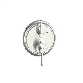 Dual Control Thermostatic with Volume Control Valve Trim Darby (series 15) Satin Nickel