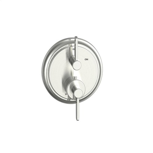Dual Control Thermostatic with Volume Control Valve Trim Darby (series 15) Satin Nickel