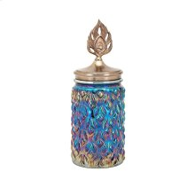 Peacock Lidded Medium Decorative Canister