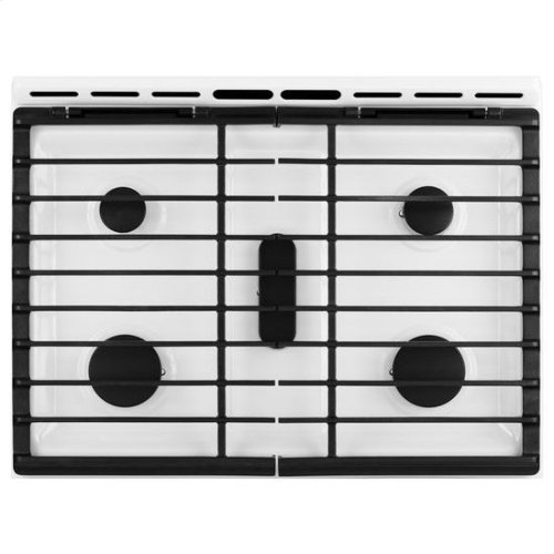 Whirlpool® 5.8 Cu. Ft. Slide-In Gas Range with EZ-2-Lift™ Hinged Grates - White Ice