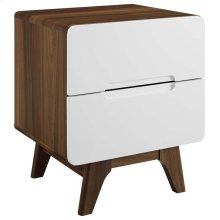 Origin Wood Nightstand or End Table in Walnut White