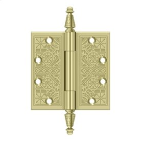 """4 1/2""""x 4 1/2"""" Square Hinges - Unlacquered Brass"""