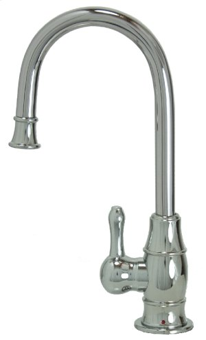 Francis Anthony Collection - Hot Water Faucet with Traditional Curved Body & Curved Handle - Polished Chrome Product Image