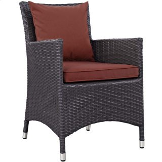 Convene Dining Outdoor Patio Armchair in Espresso Curant