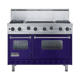 """Cobalt Blue 48"""" Sealed Burner Range - VGIC (48"""" wide, four burners 24"""" wide char-grill)"""