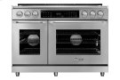 """48"""" Heritage Dual Fuel Epicure Range, Silver Stainless Steel, Natural Gas Product Image"""