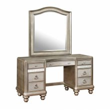 Bling Game Vanity Mirror With Arched Top