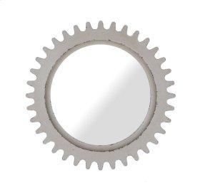 Epicenters Williamsburg Round Mirror - White