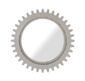 Epicenters Williamsburg Round Mirror - White
