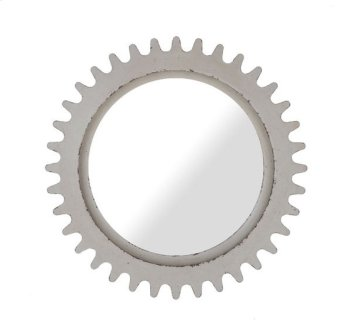 Epicenters Williamsburg Round Mirror - White Product Image