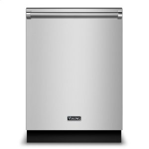 "Viking24"" Dishwasher w/Water Softener and Installed Viking Stainless Steel Panel"