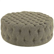 Amour Upholstered Fabric Ottoman in Oatmeal
