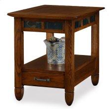 Slatestone Rustic Oak Drawer End Table #10907