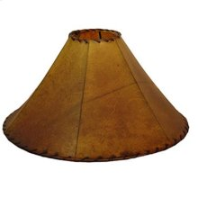 "20"" shade Buckskin Leather Lamp Shades 20"" and 24"""