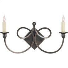 Visual Comfort SC2105BZ Eric Cohler Double Twist 2 Light 19 inch Bronze Decorative Wall Light
