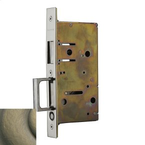 Satin Brass and Black 8603 Pocket Door Strike with Pull