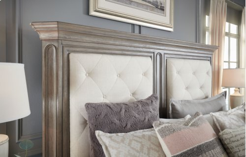 Manor House Upholstered Mansion Bed, CA King 6/0