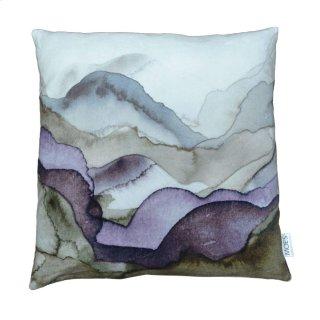 Mountains Velvet Feather Pillow