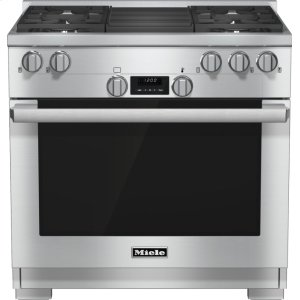 Miele Hr 1135-1 G - 36 Inch Range All Gas With Directselect, Twin Convection Fans And M Pro Dual Stacked Burners