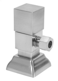 Contemporary Square Handle Angle Valve - Brushed Nickel