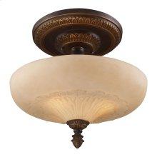 Restoration 3-Light Semi-Flush in Antique Golden Bronze