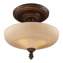 Restoration 3-Light Semi-Flush in Antique Golden Bronze