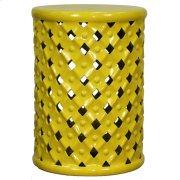 Lattice Garden Stool, Lemon Product Image