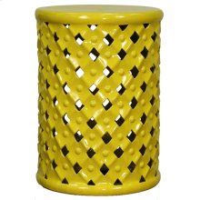 Lattice Garden Stool, Lemon