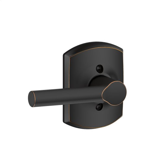 Broadway Lever with Greenwich trim Non-turning Lock - Aged Bronze