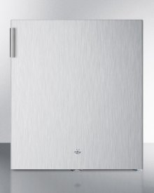 Compact commercially listed all-freezer in stainless steel with lock, capable of -20 C operation