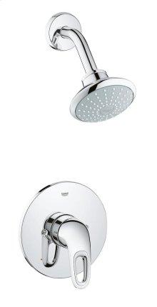 Eurostyle Pressure Balance Valve Bathtub/Shower Combo Faucet