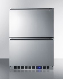 Built-in Undercounter Two-drawer All-refrigerator In Complete Stainless Steel With Panel-ready Drawer Fronts