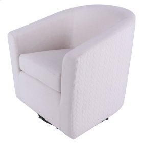 Hayden Fabric Swivel Chair, Bright Sand /Icy Leafage Beige