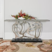 Sculpted Console - Silver