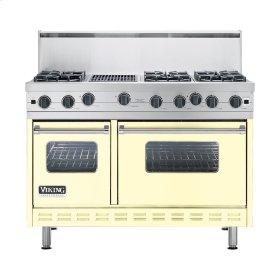"Lemonade 48"" Open Burner Commercial Depth Range - VGRC (48"" wide, six burners 12"" wide char-grill)"