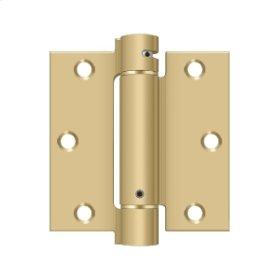 """3 1/2""""x 3 1/2"""" Spring Hinge - Brushed Brass"""