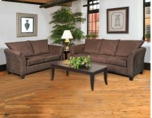 Sienna Chocolate Sofa and Loveseat