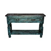Turquoise Scraped Lyon Sofa Product Image