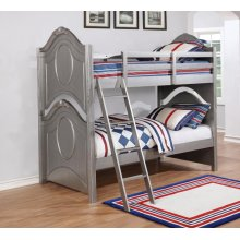 Valentine Metallic Pewter Twin-over-twin Bunk Bed