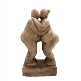 Mango Wood Kissing People