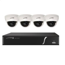 8 Ch. Plug & Play NVR and IP Kit 8 ch. NVR with 8 ch. built-in PoE, 2TB 4 3MP IR dome cameras