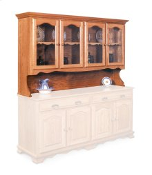 "Classic Open Hutch Top, 76"", Antique Glass"