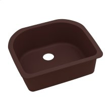 "Elkay Quartz Classic 25"" x 22"" x 8-1/2"", Single Bowl Undermount Sink, Pecan"