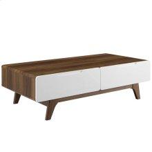 "Origin 47"" Coffee Table in Walnut White"