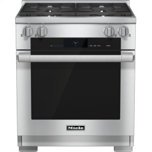 Miele30 inch range Dual Fuel with M Touch controls, Moisture Plus and M Pro dual stacked burners