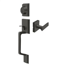 Highgate Handleset with Zinc Livingston Lever Entry - Oil-rubbed Bronze