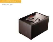 Cache End Table, Standard Leather