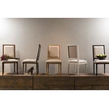 Square Back Side Chair,Giogoli,Flax